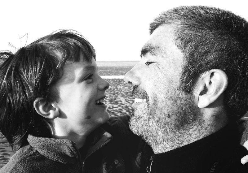 Self portrait with son by Hastings wedding photographer James Robertshaw