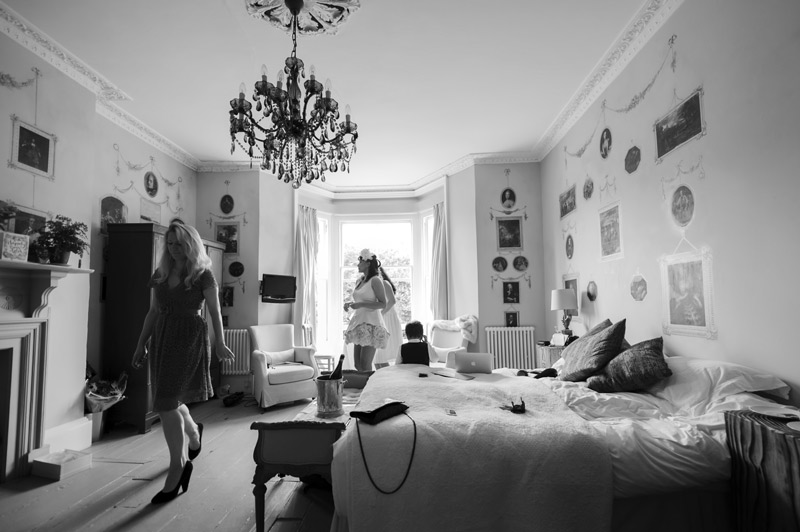 Bride getting ready at The Old Rectory Hastings
