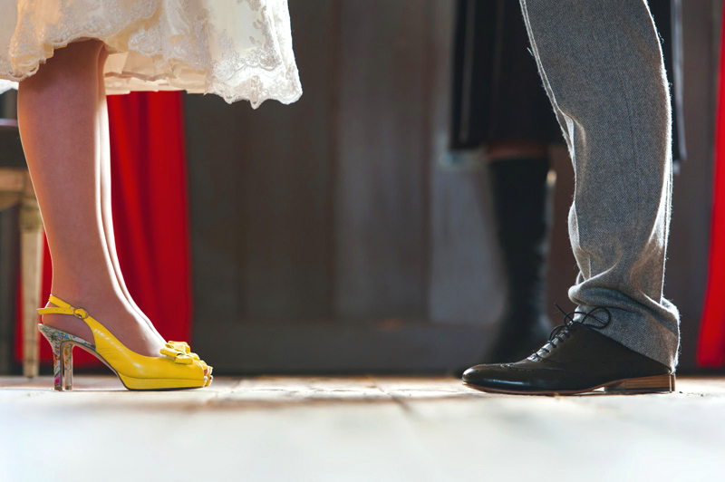 Couples feet at the Bell Ticehurst wedding by Sussex Wedding photographer James Robertshaw