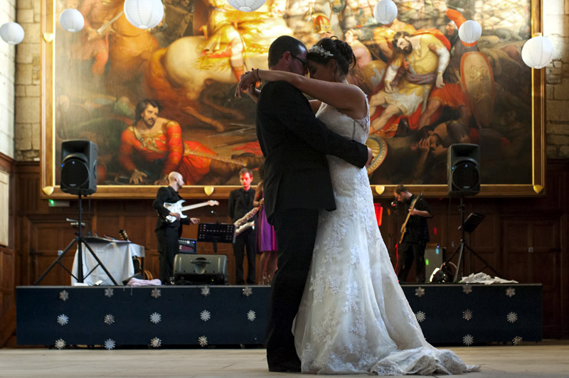 Couple first dance at Battle Abbey