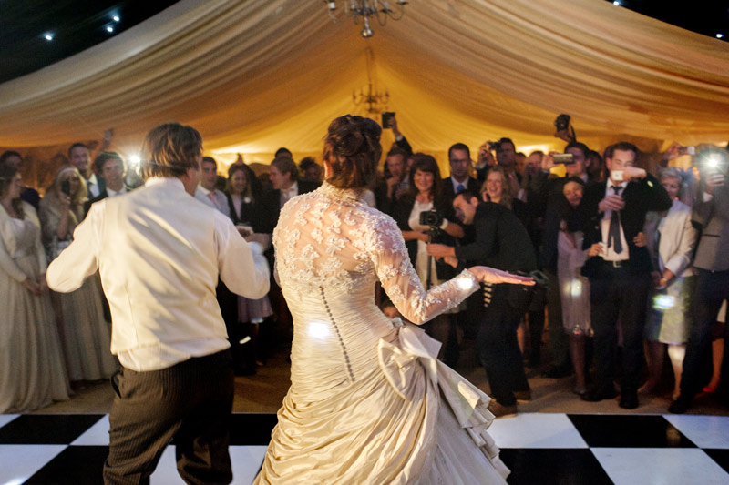 Wedding funky first dance at East Sussex wedding