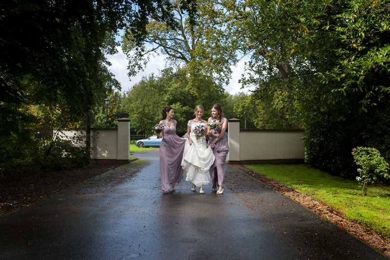 Bride and bridesmaids arriving for ceremony Bannatynes Hotel Hastings wedding