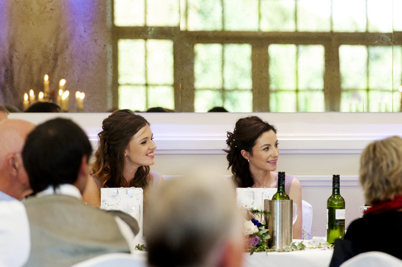 Bridesmaids at top table