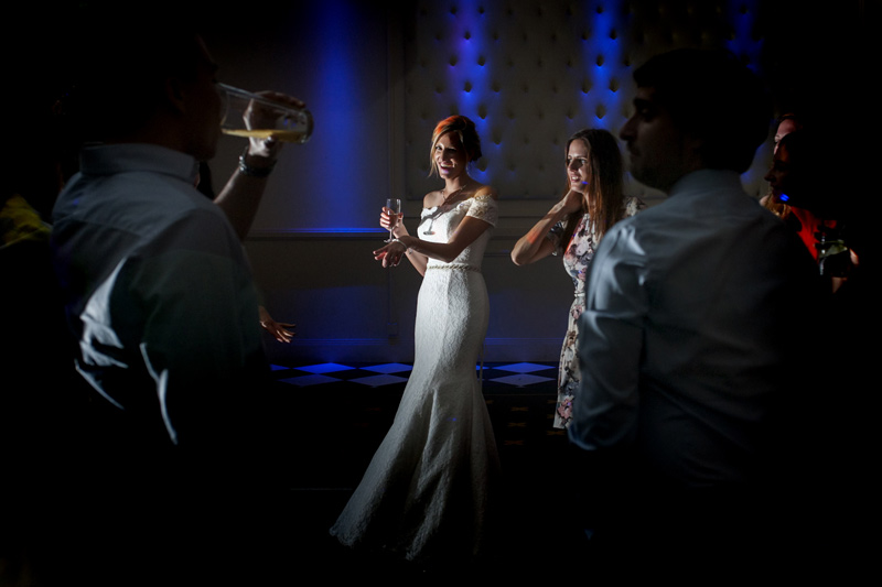 Bride on dancefloor at Bannatynes Hotel Hastings wedding