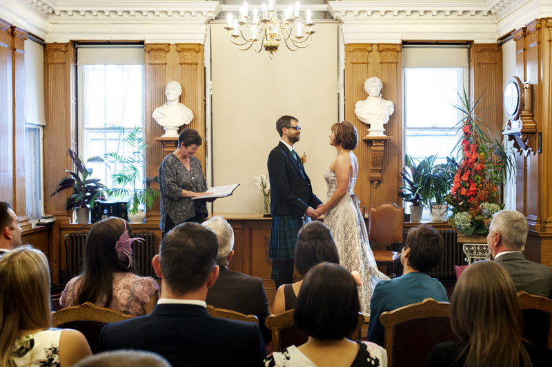 Lewes Town Hall wedding ceremony