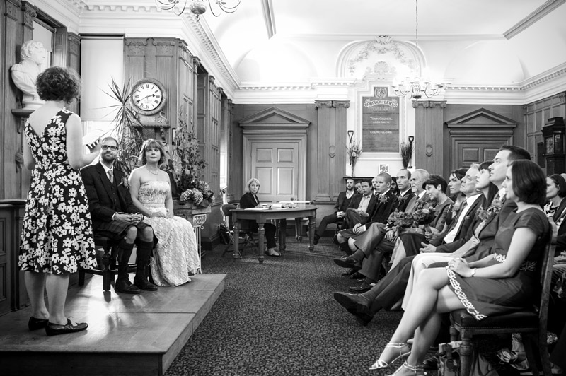Town Hall wedding ceremony