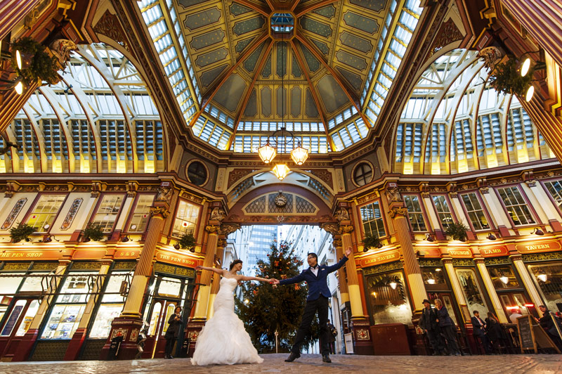 Central London pre-wedding shoot at Leadenhall Market