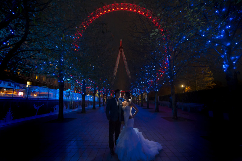 Central London pre-wedding shoot at the London Eye