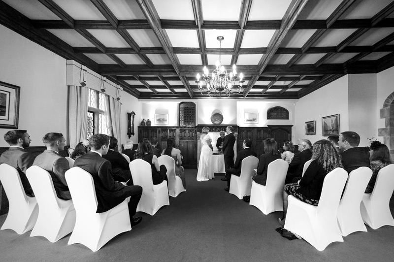 Wedding ceremony at Smallfield Place wedding