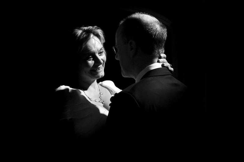 Couple dancing at Smallfield Place wedding