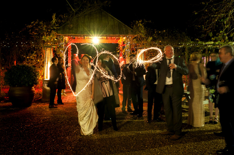South Farm wedding sparklers