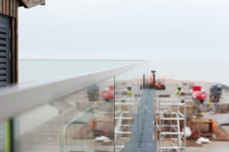 Construction work on Hastings pier