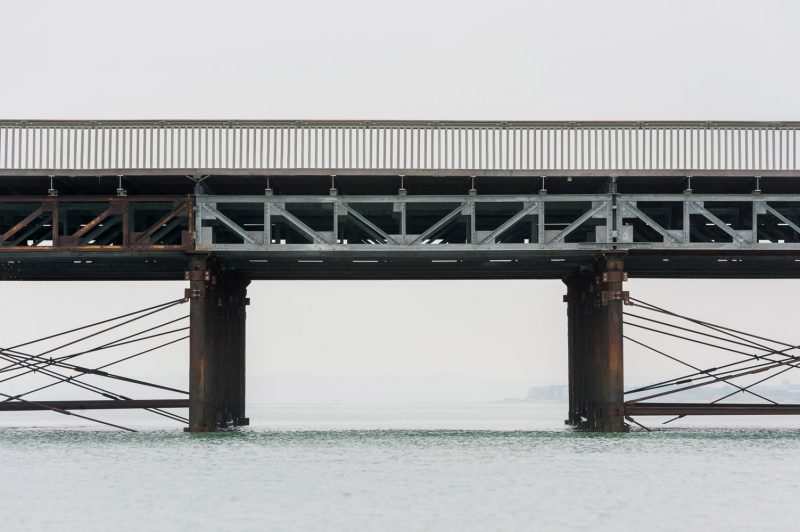 Hastings Pier photographs - Hastings Pier structure from the water