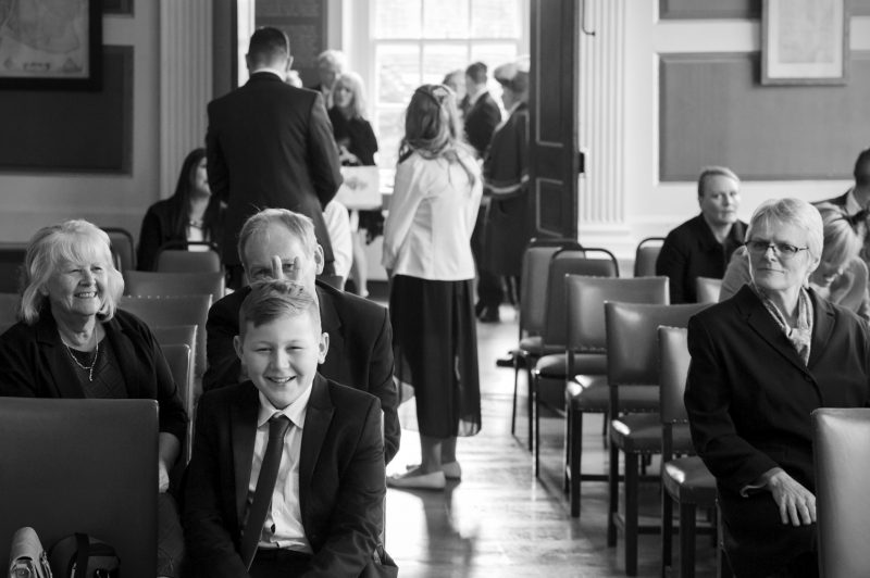 Guests being silly at Rye Town Hall wedding