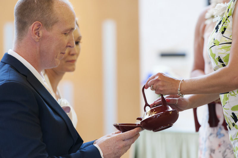Taplow Court wedding - buddhist ceremony with 3 cups