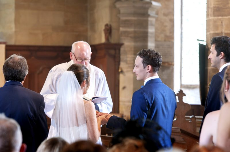 The Plough Leigh wedding - exchanging rings
