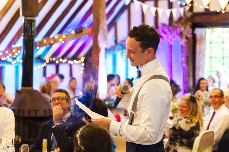Plough at Leigh wedding - groom speech