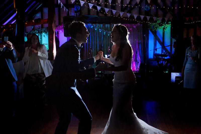 Plough at Leigh wedding - first dance