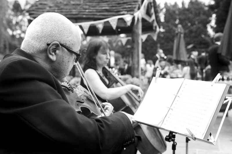 Plough at Leigh wedding - live music in the garden