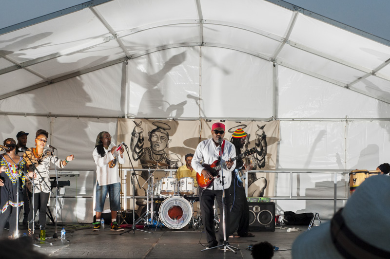 Hastings Stade events - Gabbidon on stage