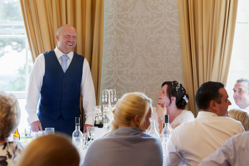Crowhurst Park wedding - groom speech