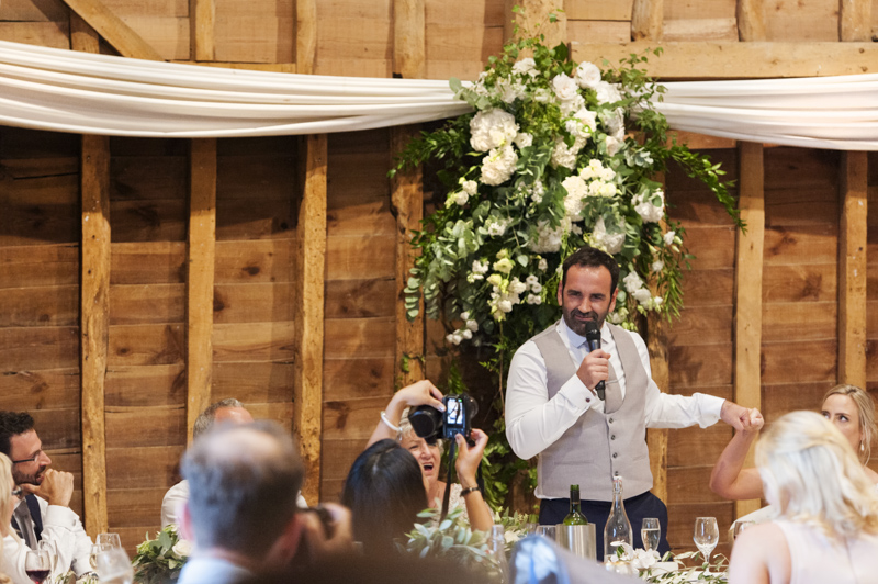 Groom speech at Tewin Bury Farm wedding