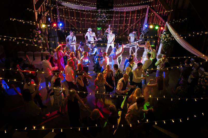 Dancefloor at Tewin Bury Farm wedding