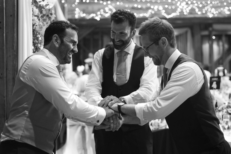 Groom and best men at Tewin Bury Farm wedding