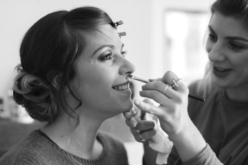 Bride and make up artist