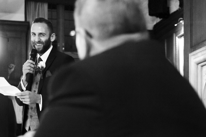 Groom speech looking at father