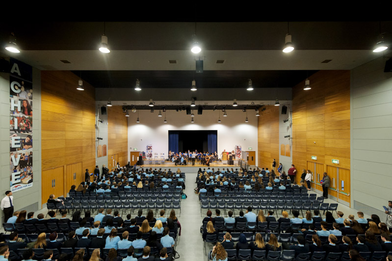 Main hall in secondary school