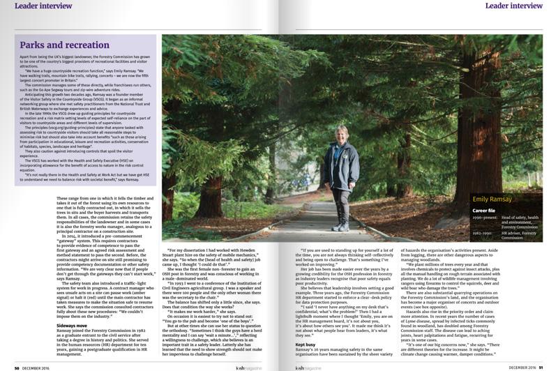 Emily Ramsay portrait in IOSH Magazine