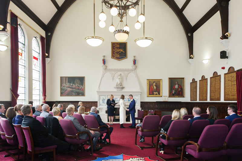 Hastings Town Hall wedding