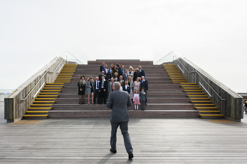 Hastings Pier wedding party