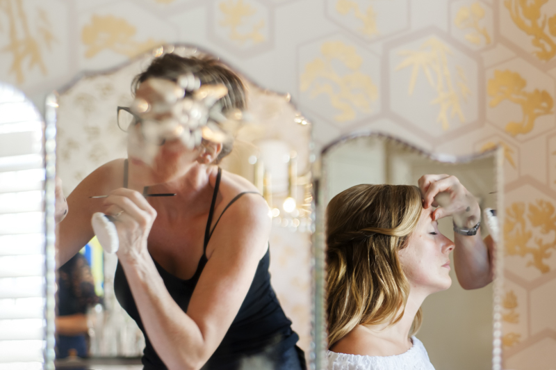 Bridal hair at the George in Rye