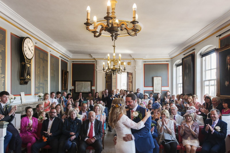 Rye Town Hall wedding ceremony