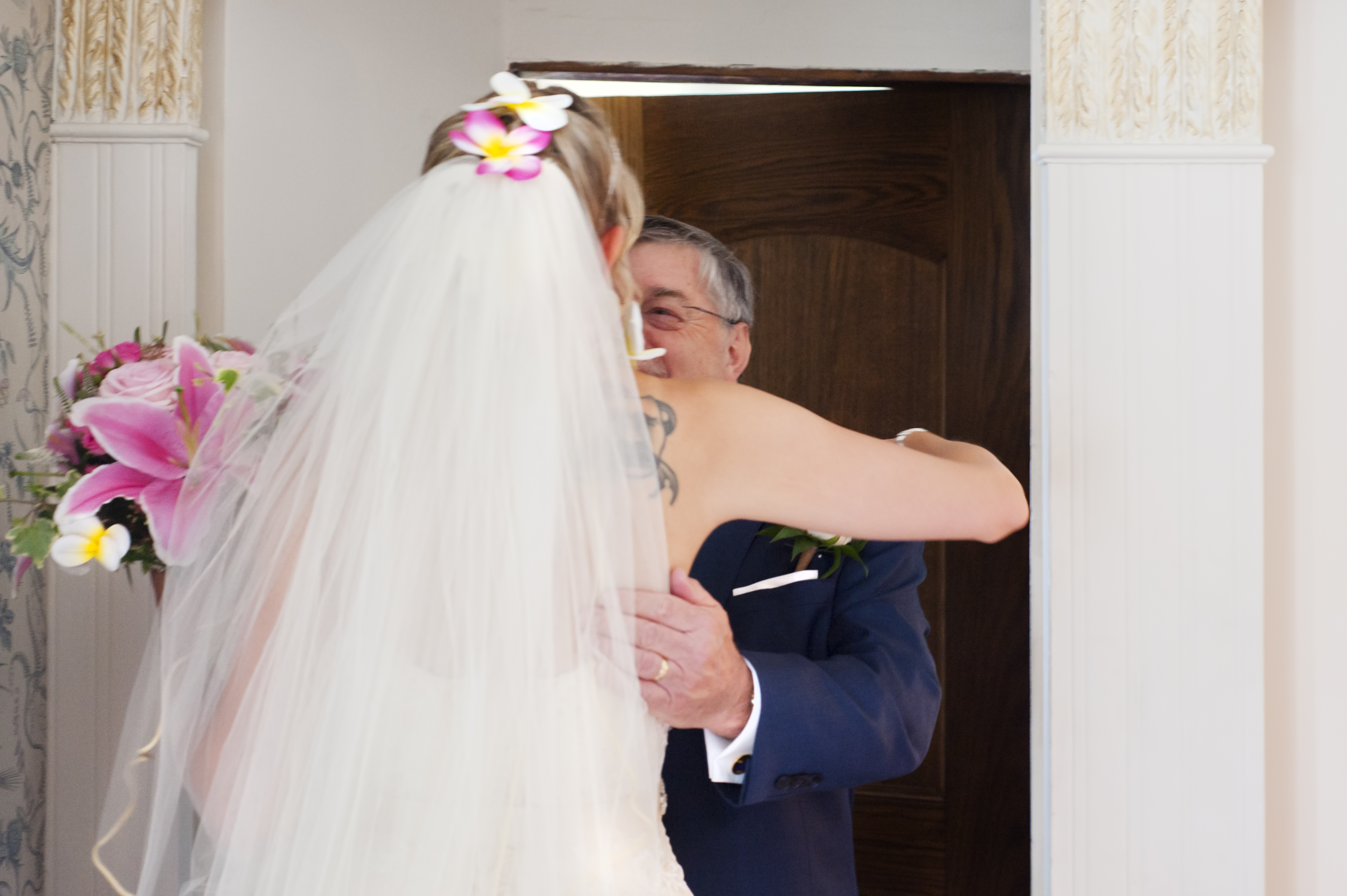 Bride and father at Hayne House wedding