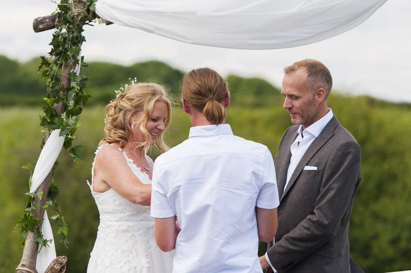 Outdoor ceremony at Court Gardens Farm