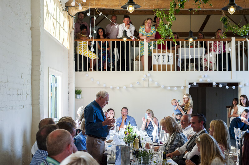 Speeches at Court Gardens Farm
