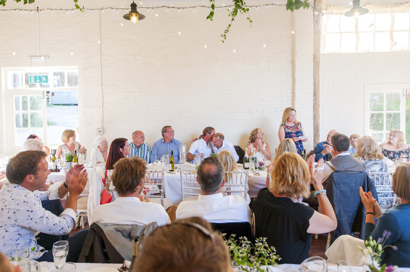 Speeches at Court Gardens Farm wedding