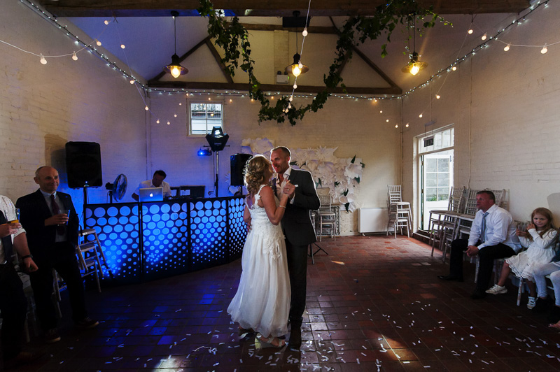 First dance at Court Gardens Farm
