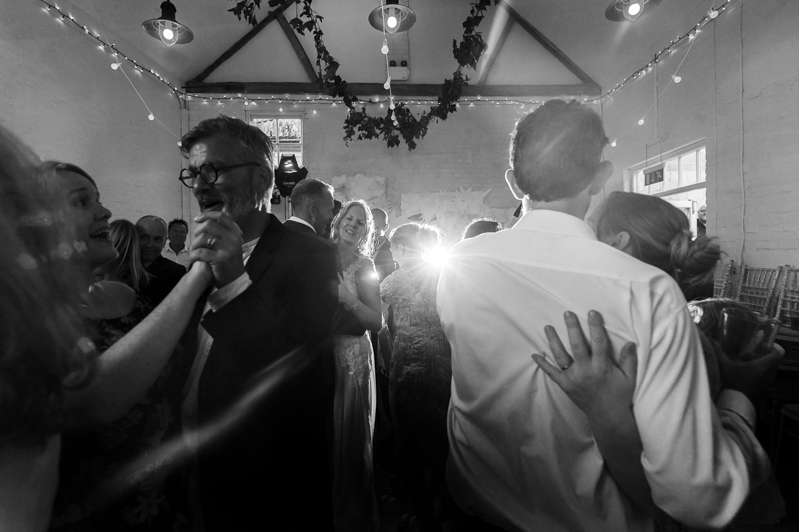 Dancing at Court Gardens Farm wedding