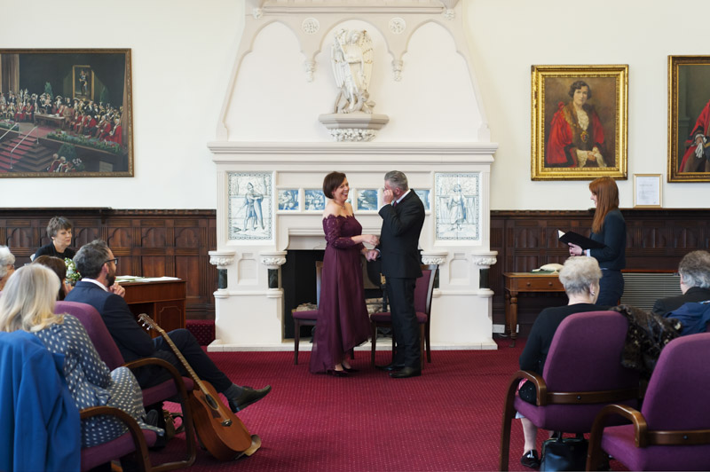 Hastings Town Hall wedding ceremony