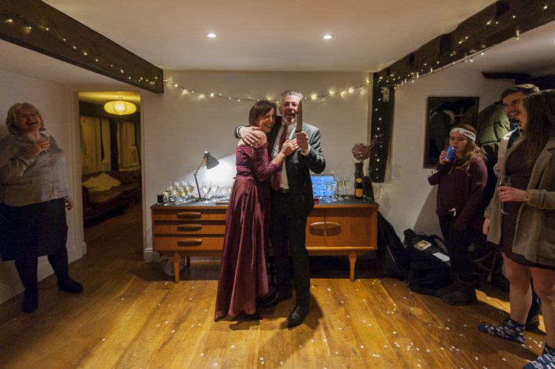 Couple about to cut the cake - Hastings wedding photography
